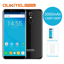 "Oukitel C8 5.5"" 18:9 Infinity Display Android 7.0 MTK6580A Quad Core Smartphone 2G RAM 16G ROM 3000mAh Fingerprint Mobile Phone(China)"