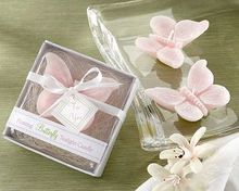 wedding candle favor--Pink butterfly candle Baby shower birthday party favors gifts 100pcs/lot
