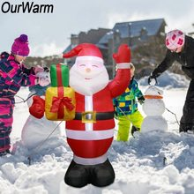 ourwarm christmas inflatables decorations giant inflatable santa 150cm95cm outdoor lawn yard decoration party supplies - Inflatable Christmas Lawn Decorations