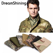 Versatile Tactical Camouflage Mesh Scarf Outdoor Jungle Muffler Scarf Breathable Military Veil Sniper Cover Neckerchief