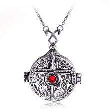 1Pcs/set Hot sale The Mortal Instruments City of Bones Necklace Angel's Cup Hinged Door Mortal Cup Rune Pendant