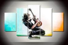HD Printed Music playing guitar Painting on canvas room decoration print poster picture canvas Unframe Free shipping(China)