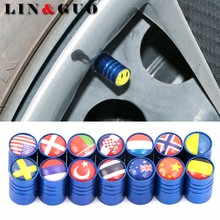 4pcs/lot case For Serbia Canada Czech Norway Korea Japan Flag Auto Motorcycle Accessories Car Wheel Tires Valve Cap dust covers(China)