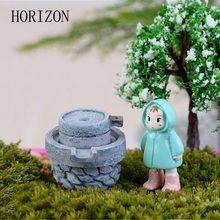 Hot Sale House Fairy Garden Miniature Craft Micro Cottage Stone Mill Landscape Decoration For Handmade DIY Resin Crafts(China)