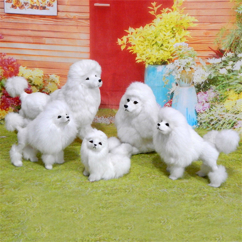Freeshipping 1pc Miniature Handmade Fur Poodle Dog Lifelike Figure toy animal cake home office car decoration party supply gifts<br><br>Aliexpress