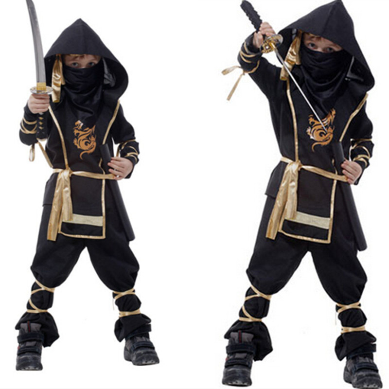 Christmas Gifts Halloween Gift 110-150CM Children Boy Martial Ninja Cosplay Clothing Warrior Stage Suit Kids Swordsman Costume <br><br>Aliexpress