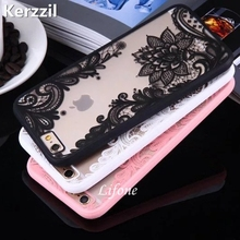 Kerzzil Lace Floral Paisley Retro Blume Mandala Henna Klarer Fall Für iphone 6 6 S 7 6 s 7 Plus 5 SE 5 s Telefon Cartoon Zurück abdeckung(China)