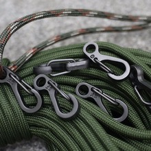 10PCS Mini SF Spring Backpack Clasps Climbing Carabiners EDC Keychain Camping Bottle Hooks Paracord Tactical Survival Gear