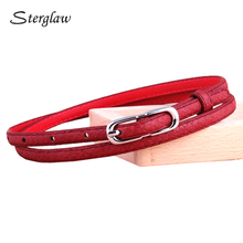 New ladies Snakeskin thin belts and straps for women Dress 2017 Hot fashion snake red belt female cinturon mujer decorativo N136