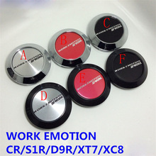 Car-styling 4pcs/lot 64mm Car Wheel Center Caps Car Emblem Car Logo for Work EMOTION CR ULTIMATE XD-9 XT-7 XC-8 11R-FT and 11R(China)