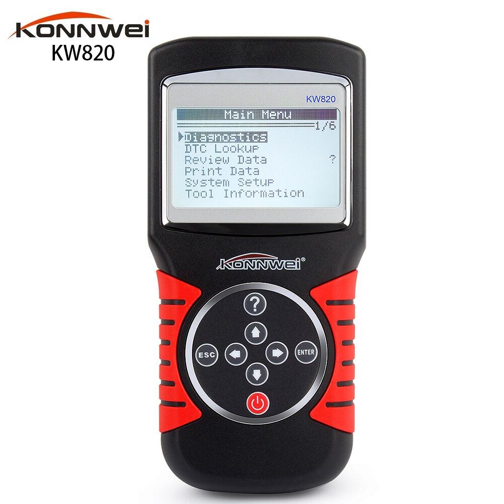 Original Brand KW820 Scanner Code Reader &amp; Scan Tools OBD Car Scanner EOBD OBDII 2 Car/Vehicle Engine Diagnostic Tool<br><br>Aliexpress
