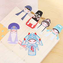 7 Pcs / pack , Lovely Stationery Chinese Wind Classical Elements Of Peking Opera Drama Mini Bookmarks Into Facebook Suit 7