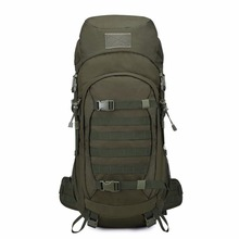 Mountaintop 50L Travel Tactical Backpack Waterproof 600D Polyester Military Molle Bag for Hunting Hiking, with Rain Cover(China)