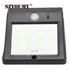 SZYOUMY Solar Power Light Outdoor Weatherproof 12 LED Security Light Motion Sensor Light for Patio Garden Pool Path 50pcs DHL