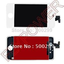 For iphone 4S lcd with touch digitizer +frame assembly by DHL UPS or EMS; white ; 10pcs/lot