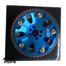 2PCS Adjustable Cam Timing Gear for Nissan RB20 / RB25 / RB26 Blue(China)