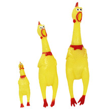 30cm 17cm 41cm Screaming Chicken Squeeze Sound Toy Pets Toy Product Dog Toys Shrilling Decompression Tool Funny Gadgets(China)