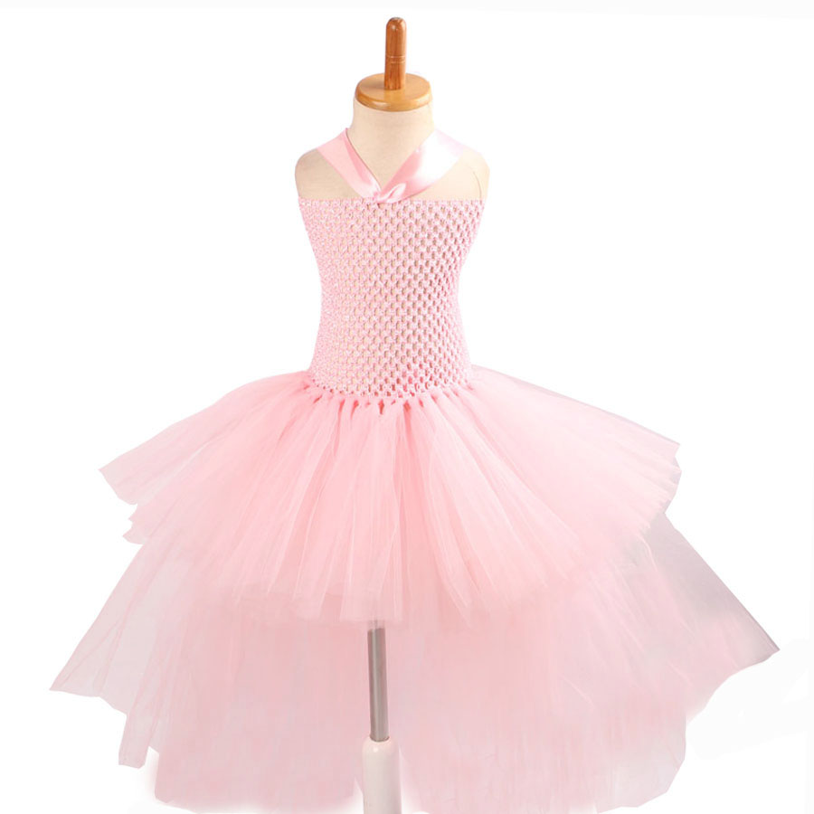 Gorgeous Light Pink Girls Tutu Dress for Photo Shoot Birthday Party Wedding Kids Dress up Costume Pink Fancy Ball Gown (9)