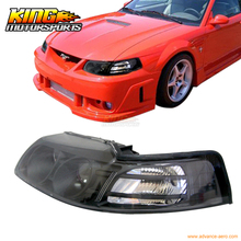 For 99-02 03 04 Ford Mustang JDM Black Projector Headlights USA Domestic Free Shipping