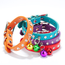 Free shipping Personalized Spiked Studded Soft Leather Cat Puppy Dog Collars Pet Products
