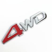 Car Styling 3D Chrome Metal Sticker 4WD Emblem 4X4 Badge Decal SUV Rear Trunk Off-road For Toyota Highlander RAV4 Tiguan Honda(China)