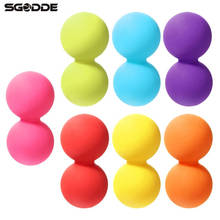 Body Building Yoga Double Lacrosse Message Ball Mobility Myofascial Trigger Point Release Peanut Ball Fitness Ball