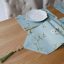 2017 New Heavy Poly Linen  Table Flag European Style Tassel Table runner Coffee Table Dinning Table Runner  House decoration