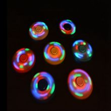 Buy New LED Light Fidget Spinner Finger ABS EDC Hand Spinner Tri Kids Autism ADHD Relief Focus Anxiety Stress Wheel Toys Gift for $1.81 in AliExpress store