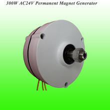 2017 New Arrival Low Rotate Speed 300W AC24V Output Permanent Magnet Generator Wind Turbine Alternator Low RPM PMG(China)