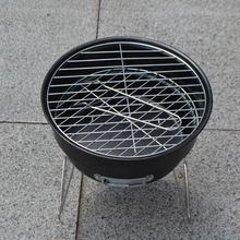 BBQ Grill Round Oven Stove Charcoal Mini Portable Barbecue Grills With Ice Bag Kits Outdoor Camping Party Supplies Churrasco
