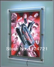 Acrylic menu board, display sign board module led poster display lightbox 27inches X 40inches(China)