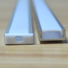 30m(30pcs) a lot, 1m per piece led aluminum profile slim 1m with milky diffuse or clear cover for led strips