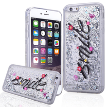 Bling Glitter Stars Dynamic Liquid Quicksand Soft TPU Phone Back Cover Case For iPhone 6 6S Plus 7 7 Plus ipod touch 5 6