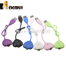 Newest Cute Love Heart Style Electronic Cigarette USB Charging Cable E Cigs Charger Lovely USB Charger