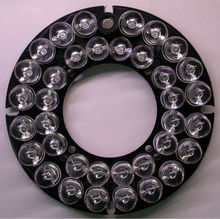Infrared 36 x 8 IR LED  board for CCTV cameras night vision (diameter 76mm) for CS LENs
