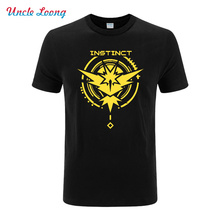Game Pokemon Go Mens T-Shirt Crew Neck Cotton Summer T shirt Men Fashion tshirt Tee Tops Team Mystic Short Sleeve - uncle Loong Store store