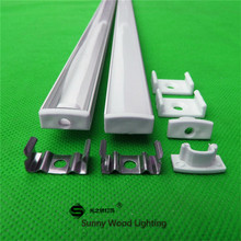 2-30pcs/lot 0.5m/pc led channel aluminum profile for 5050 5630 led strip,milky/transparent cover for 12mm pcb ,led housing(China)