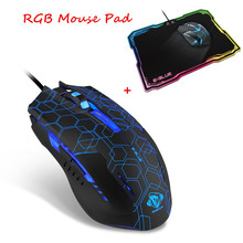 E - 3LUE M636 USB Wired Mouse Optical Gaming Mouse Star Edition with LED Breathing Light Mouse Gamer for PC Laptop mouse pad