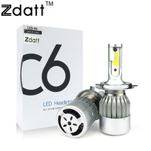Zdatt 2Pcs Super Bright H4 Led Bulb 72W 7600Lm Car Led Headlight H1 H7 H8 H11 HB3 9005 HB4 12V Moto Fog Lamp DRL Automobiles C6