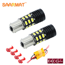 2x 1156 P21W BA15S No Error with Cree Chip LED DRL Driving Daytime Running Fog Lamp Light For Volkswagen VW Passat B7 2012-2014(China)