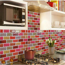 Wootile vinyl tile self-adhesive and Durable mosaic wall tile waterproof and oil proof wall tile for House Decoration