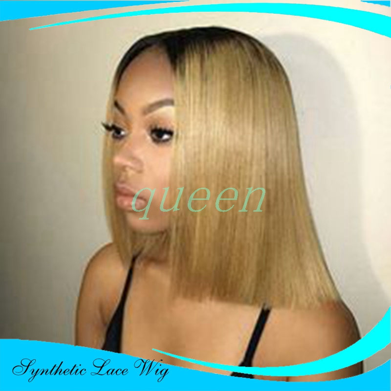 synthetic lace front wig ombre bob wig beyonce wig blonde lace front wigs for black women free parting<br><br>Aliexpress