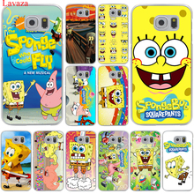 Lavaza SpongeBob SquarePants Sponge Bob Hard Transparent for Samsung Galaxy S6 S7 S8 Edge Plus S5 S4 S3 & Mini Case Cover