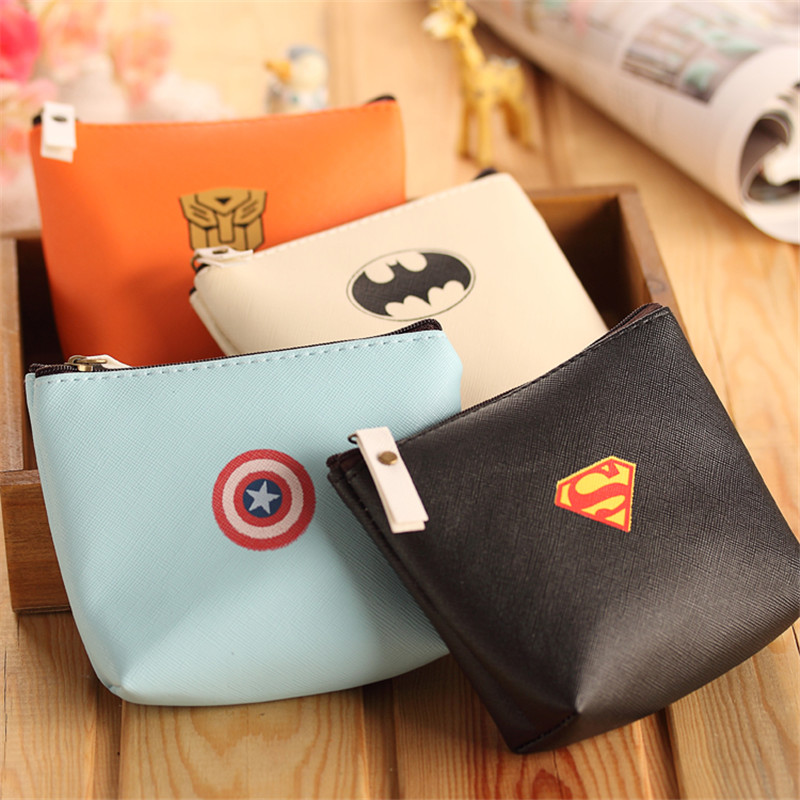 Children Wallet Superhero Batman Mini Coin Purses Cartoon PU leather Coin Wallet Key Bag Holders Money Wallet For Girls Gift<br><br>Aliexpress