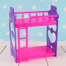 New girls toys Handmade Doll's Plastic Bunk Bed  For Barbie Doll,doll house Kid's Play House Toys Doll Accessories