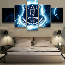 5 Pieces Everton Football Club Sports Fans Oil Painting On Canvas Modern Home Pictures Prints Liveing Room Deco Fans Posters