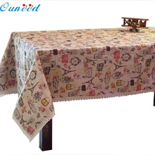Ouneed 60 *60cm Party Table Cloth Fine Linen Eiffel Tower Fondos De Pantalla Happy Gifts High Quality