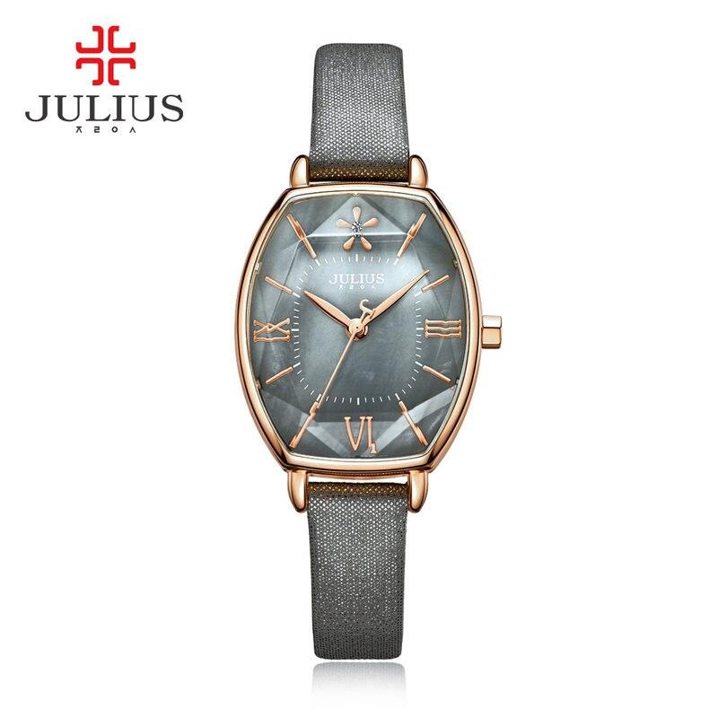 2017 JULIUS Quartz Brand Lady Watches Women Luxury Rose Gold Antique Square Leather Dress Wrist Watch Relogio Feminino Montre<br>