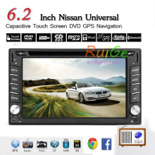 "Capacitive 6.2"" HD LCD Android5.1 Double 2 Din Car DVD Player Stereo Radio head Deck GPS Navigation bluetooth 1GHZ 3G WIFI BT"
