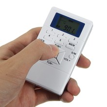 New White Mini Frequency Modulation FM Radio Digital Signal Processing Portable Receiver With Earphone Radio